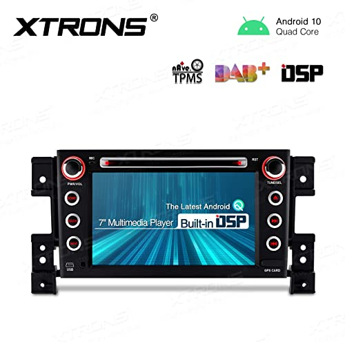 XTRONS 7 inch Android 10.0 Touch Display Car Stereo Radio DVD Player GPS Navigator with USB SD Port Bluetooth 5.0 Supports OBD 1080P DVR for Suzuki Grand Vitara