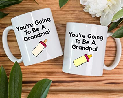 Amazon.com: New Grandpa Gift, New Grandma Gift, Pregnancy ...