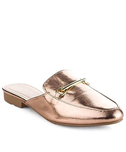 Women's Fashion Slip On Flat Loafer Slides Slippers