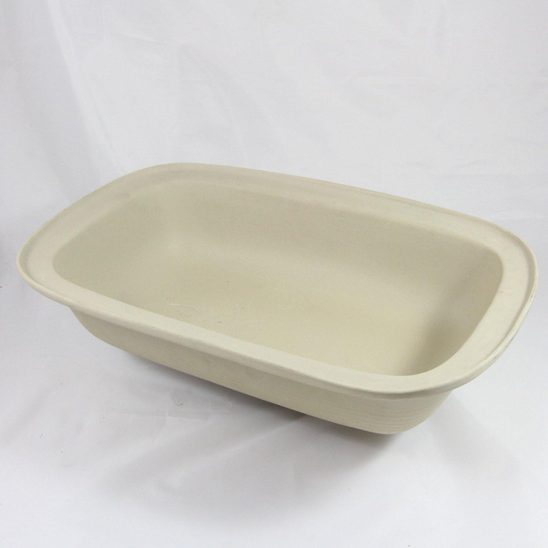 Pampered Chef Family Heritage Stoneware Rectangular Lid/Bowl #1435
