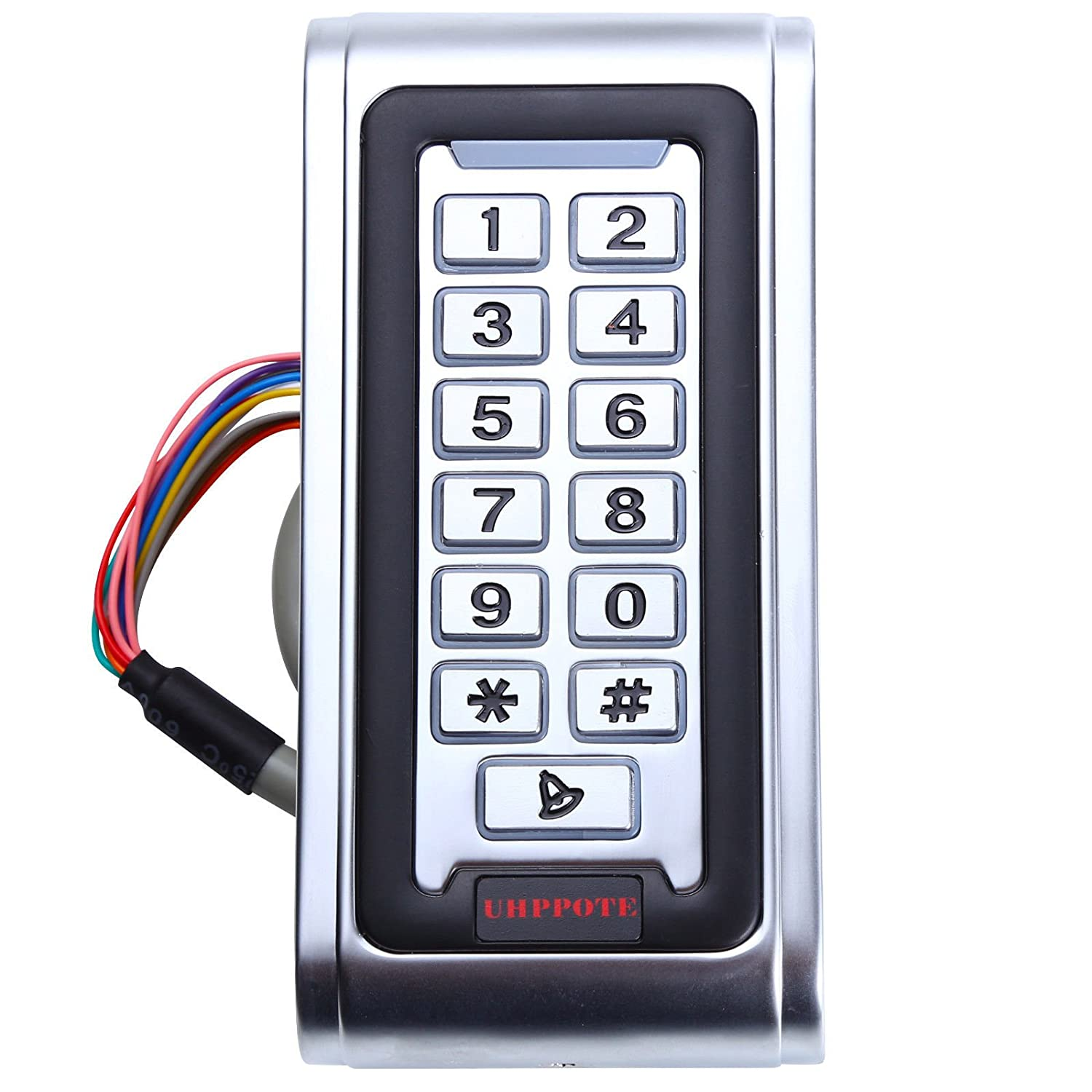 UHPPOTE 13.56MHZ IC Waterproof Metal Case Stand-Alone Access Control Keypad with Wiegand 26-bit Interface