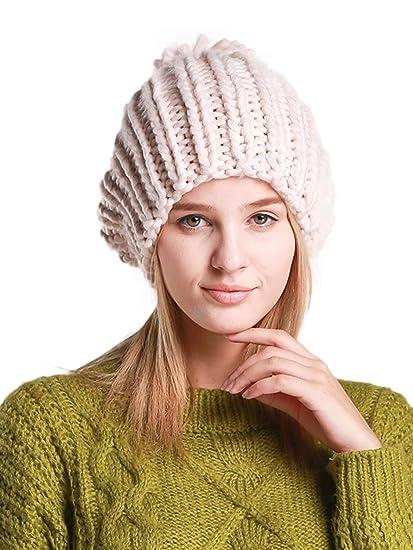 9727cc7d2d2 Clothink Women Pom Pom Beanie Cable Knit Oversize Warm Winter Hat ...