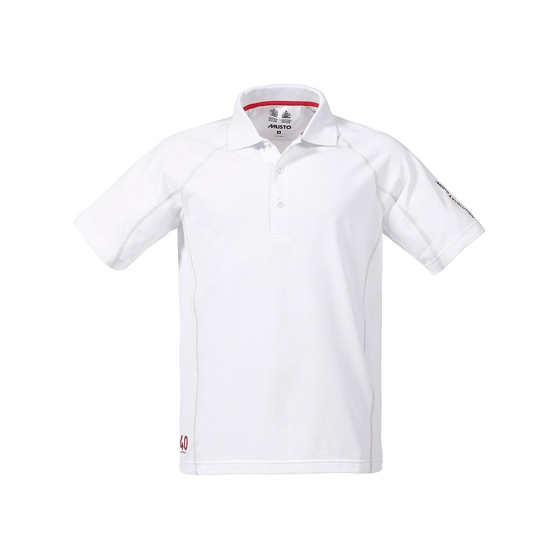 2016 Musto Evolution Sunblock Short Sleeved Polo Top WHITE SE0264 ...