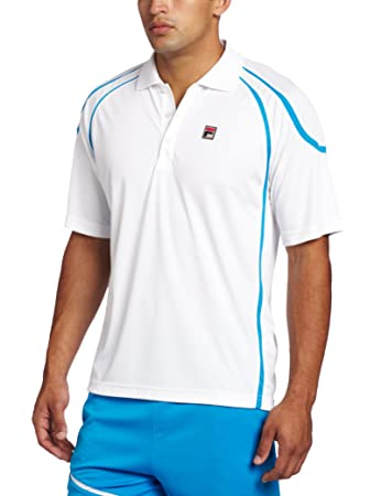 Fila Tennis Herren 's Center Court Polo Einsatz Shirt, Herren, weiß ...