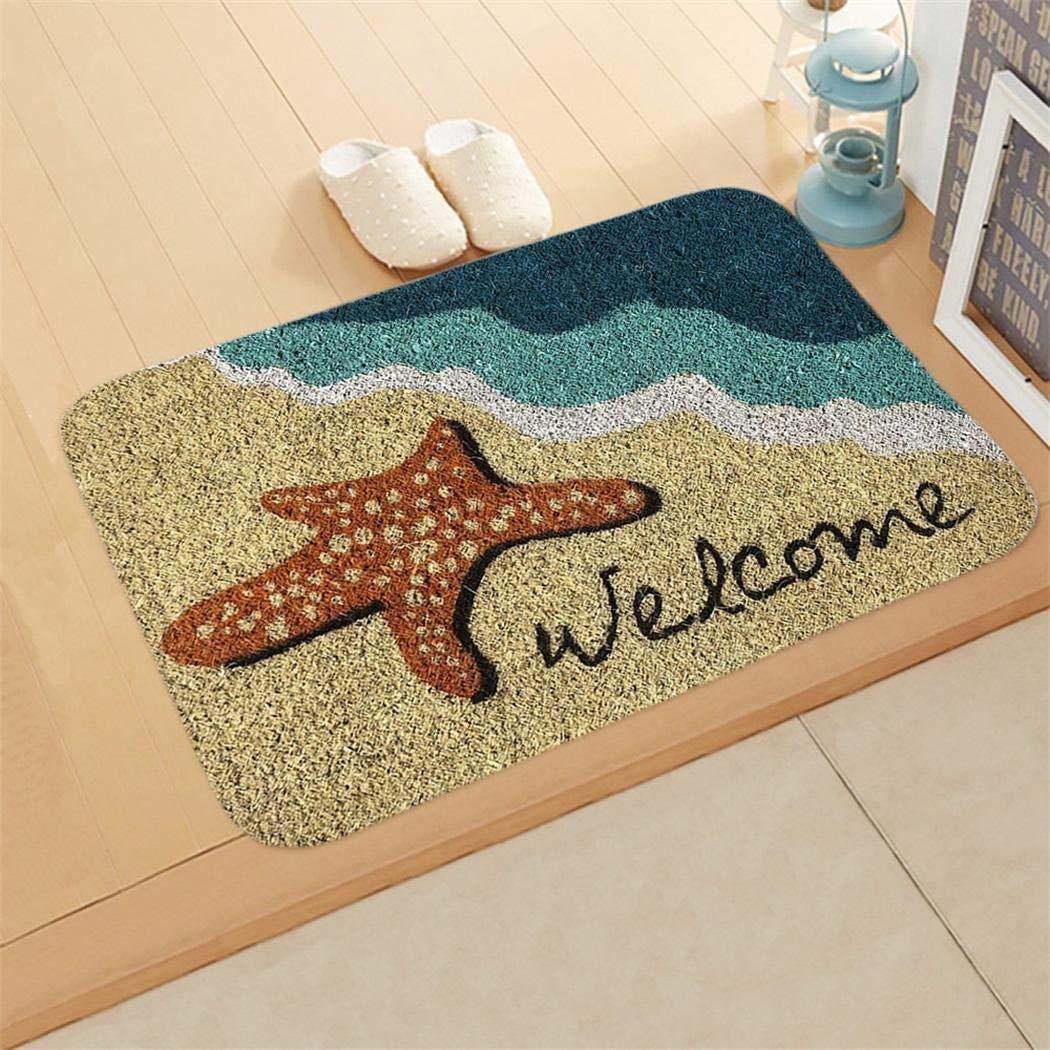 ladiy Rectangle Non-Slip Door Mat Bedroom Kitchen Entrance Print Floor Mat Doormats