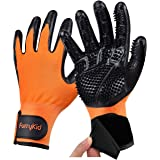 Furrykid Pet Grooming Gloves - Pet Hair Remover Gloves Premium Deshedding Gloves for Easy, Mess-free Grooming of Dogs…