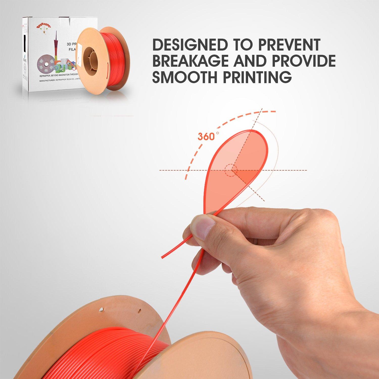 reprapper pla 3d printing printer filament 1 75 mm tangle free