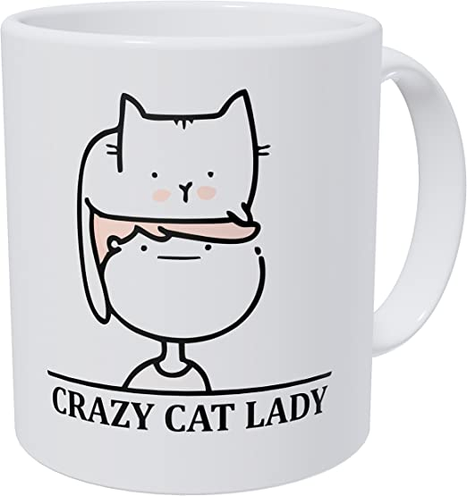 Crazy Lady Funny Thermal Home Is Where Your Cat Is Travel Mug Cup With Handle