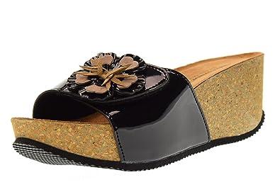 huge discount 6bc38 aed49 Valleverde Chaussures Femme Sandales à Talon G51401C Noir Taille 36 Black  z7HnO