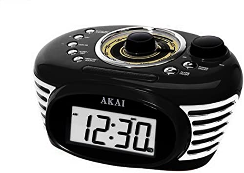 Akai Retro Alarm Clock Radio-Black