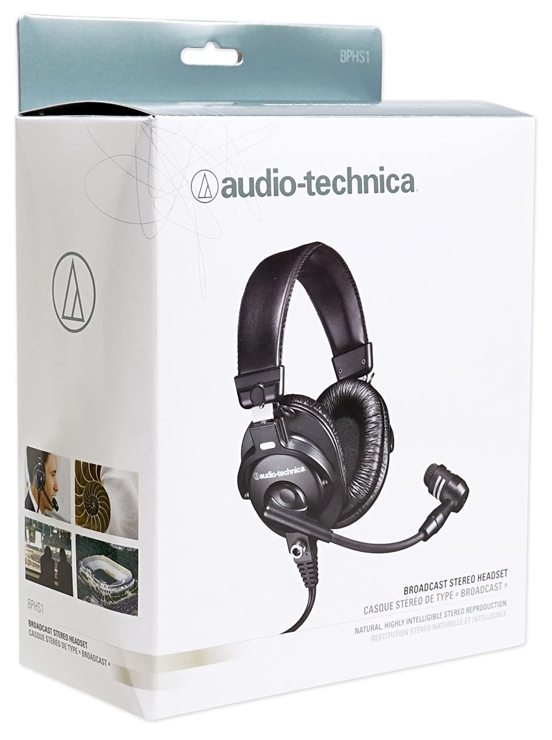 a36b27535c6 Amazon.com: Audio Technica BPHS1 Over-Ear Broadcast Headset w/Boom+Studio  Mic+Headphones: Home Audio & Theater