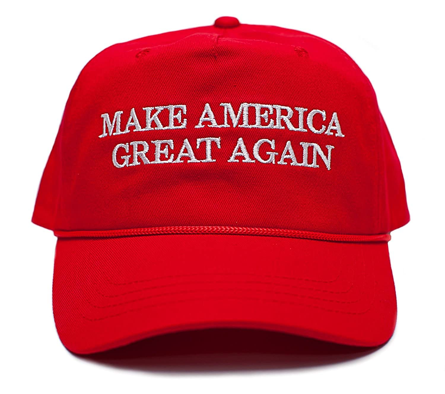 bca12df8226 Back To Back World War Champs Make America Great Again Embroidered Donald  Trump 2016 Cloth   Braid Hat (MAGA Red) at Amazon Men s Clothing store