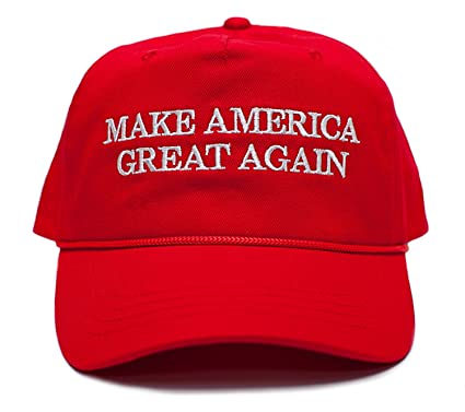 f65f034a7 Make America Great Again Embroidered Donald Trump 2016 Cloth & Braid Hat  (MAGA_RED)