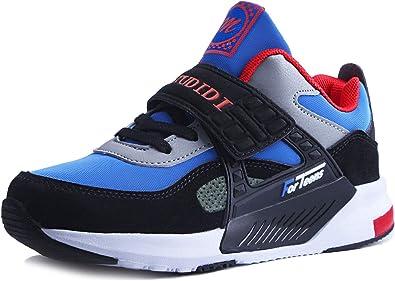 Zapatillas Niña Zapatos Niño Infantil Sneakers Unisex Zapatillas Running Deportivos Running Shoes Al Aire Calzado Trekking Ligero Transpirables Velcro Summer 26-37: Amazon.es: Zapatos y complementos