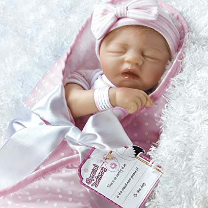 4f3450338 Amazon.com  Paradise Galleries Reborn Baby Doll in Silicone Vinyl ...