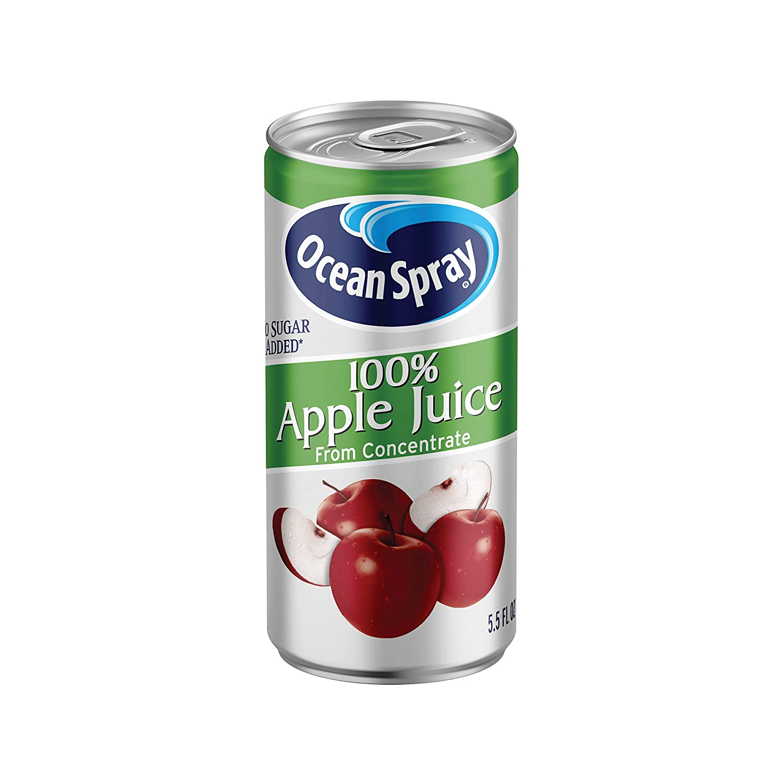 Ocean Spray 100% Apple Juice Mini Cans, 5.5 Ounce (Pack of 48)