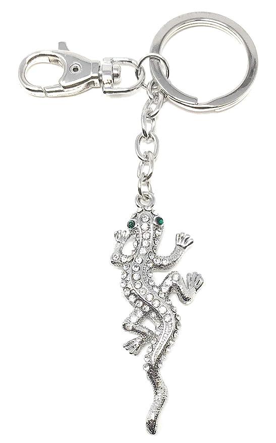 Amazon.com: Kubla Crafts Bejeweled Gecko - Llavero (5,75 ...
