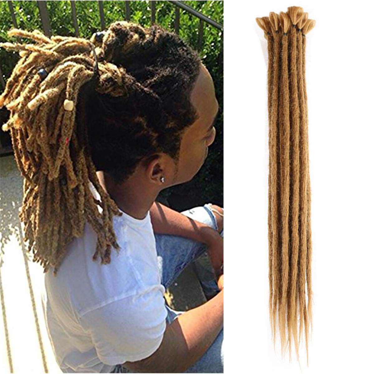 20 x dark brown Highest Quality Human Hair Dreadlock extensions 12 inches long