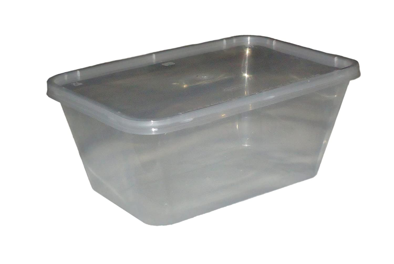 500 Microondas Congelador. Pan Cajas de plástico Recipiente & Tapa ...