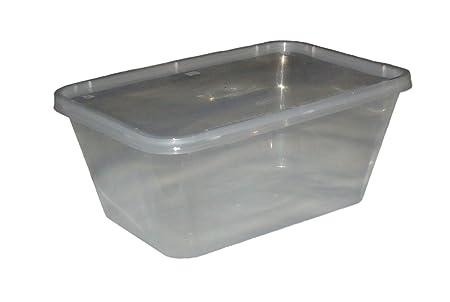 500 Microondas Congelador. Pan Cajas de plástico Recipiente ...