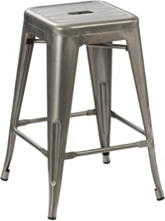 Amazoncom Tabouret 24 Inch Metal Counter Stools Set Of 2