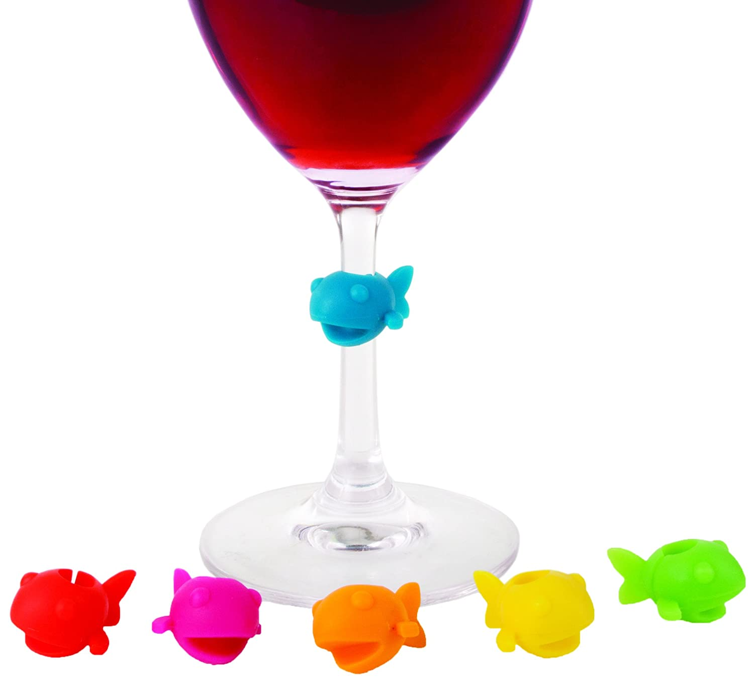 Bow Tie Set of 6 Silicone Wine Charms by True True Fabrication 3388