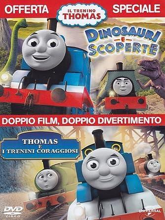 Il trenino thomas thomas e i trenini coraggiosi dinosauri e
