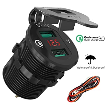Quick Charge 3.0 USB Auto Steckdose KFZ Ladegerät: Amazon.de: Elektronik