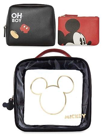 c2b08bd3500b Mickey Mouse Wash/Make up/Travel / Cosmetic Bag Set 3: Amazon.co.uk: Luggage
