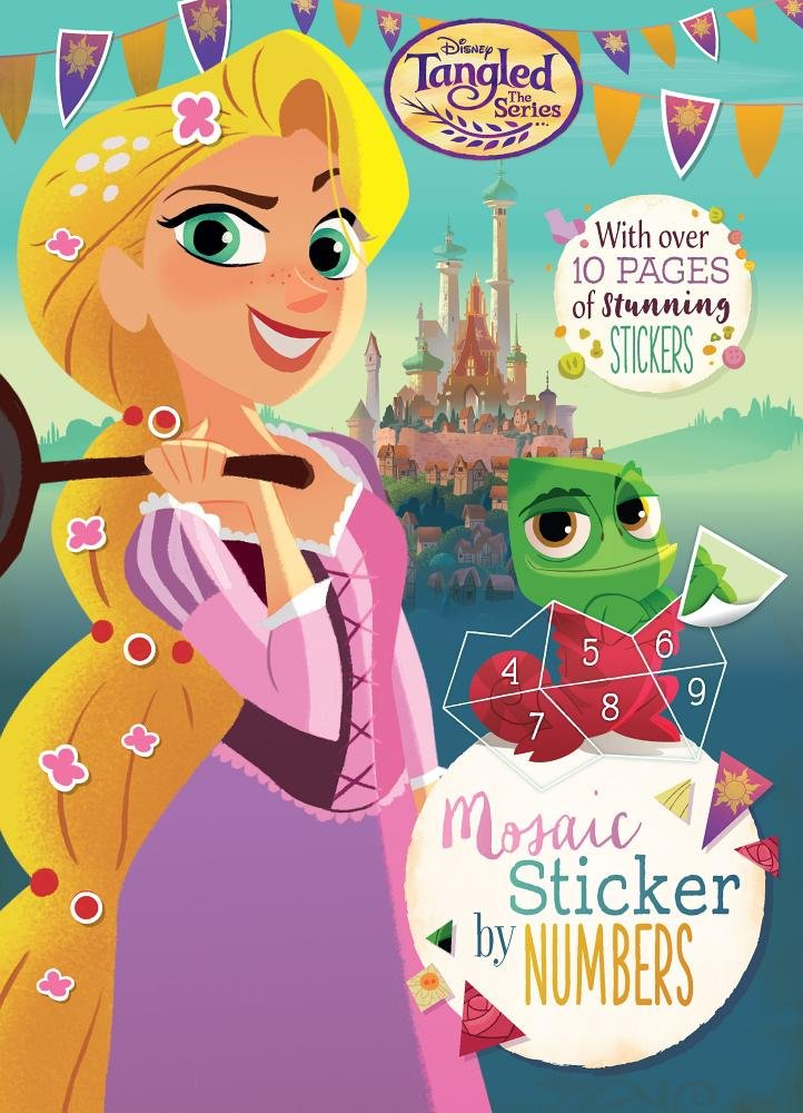 Disney Tangled Activity Book Set -- 3 Tangled Rapunzel Books Filled with Painting, Coloring and Sticker Activities (Tangled Party Supplies) Parragon