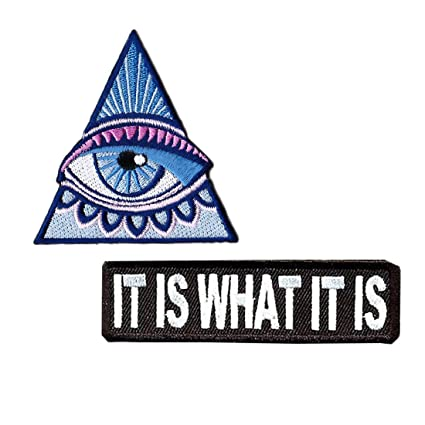 Amazon.com  All Seeing Eye Patches For Jackets Quote Patches For ... 785b3454f29
