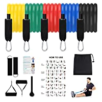 Resistance Bands Set,Exercise Bands Stackable Workout Bands with Door Anchor,Handles...