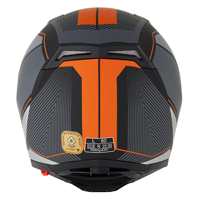 Stealth F117 neón Full Face casco de moto: Amazon.es: Deportes y aire libre
