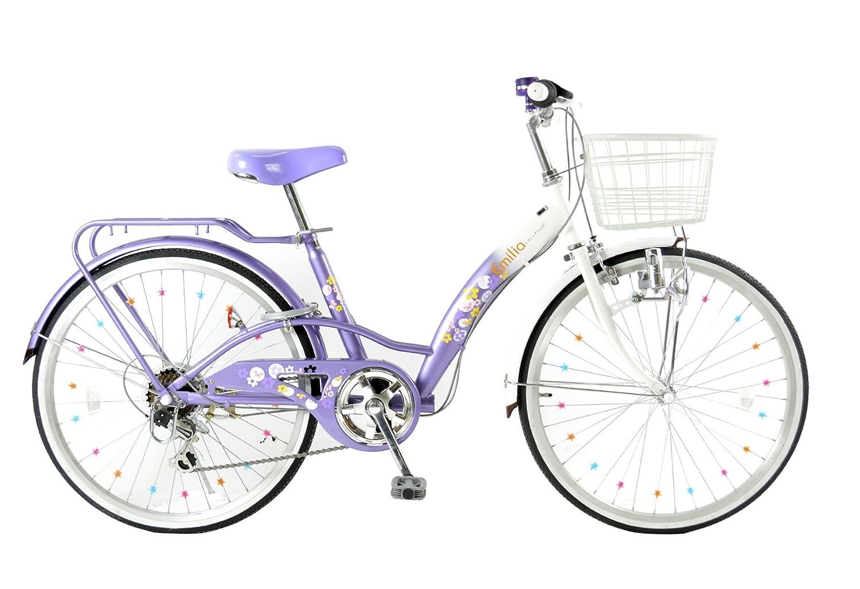 21Technology Emilia(エミリア) EM246 24インチ シマノ製6段変速 子供用自転車 B07B63CBQ3 ライトパープル ライトパープル