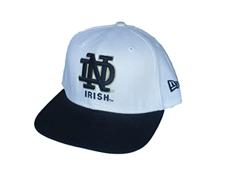031836f6b76 Image Unavailable. Image not available for. Color  Notre Dame Fighting  Irish New Era Fitted 6 7 8 Hat Cap White