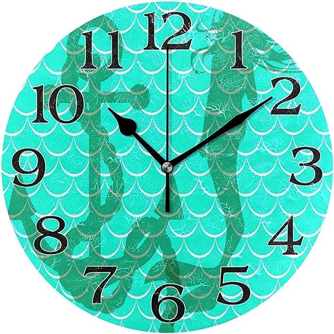 L.Fenn Decoración De Reloj De Pared De Ancla De Escala De Sirena ...