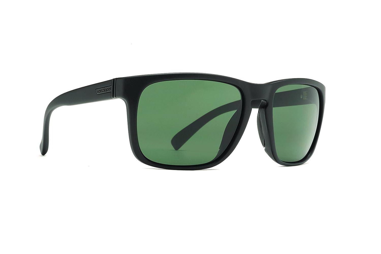 Von Zipper Lomax Black Satin Grey Sunglasses SMSF1LOM BKS
