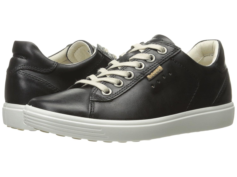 [ecco(エコー)] レディースゴルフシューズ靴 Soft Sneaker Black Cow Nubuck EU38 (US Women's 7-7.5) (24cm) M B07FVSRL62