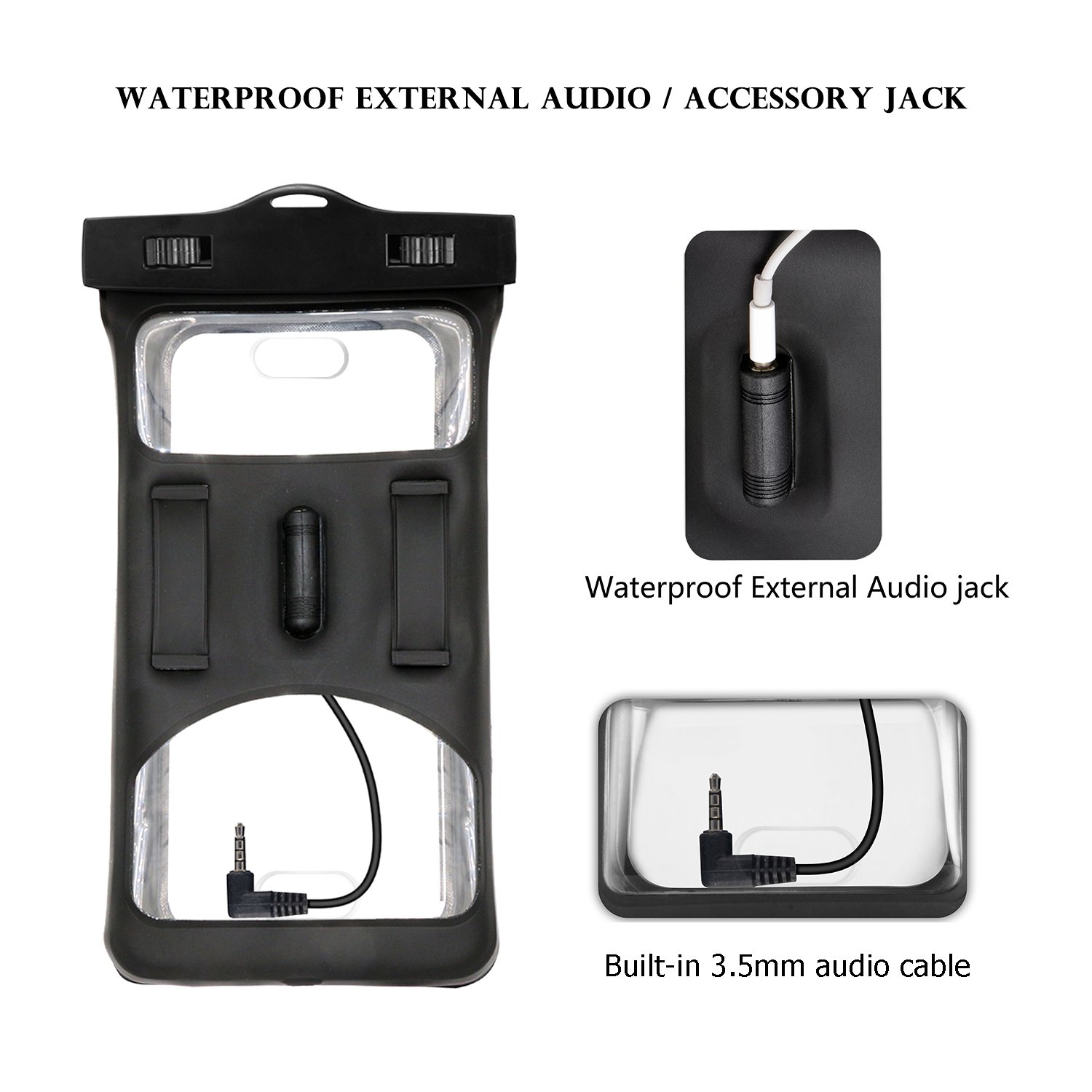 Floatable Waterproof Phone Case, Vansky Waterproof Phone Pouch Dry Bag with Armband and Audio Jack for iPhone X, 8 Plus, 8, 7 Plus, 7, 6s, 6, Andriod; TPU Construction IPX8 Certified by Vansky (Image #2)