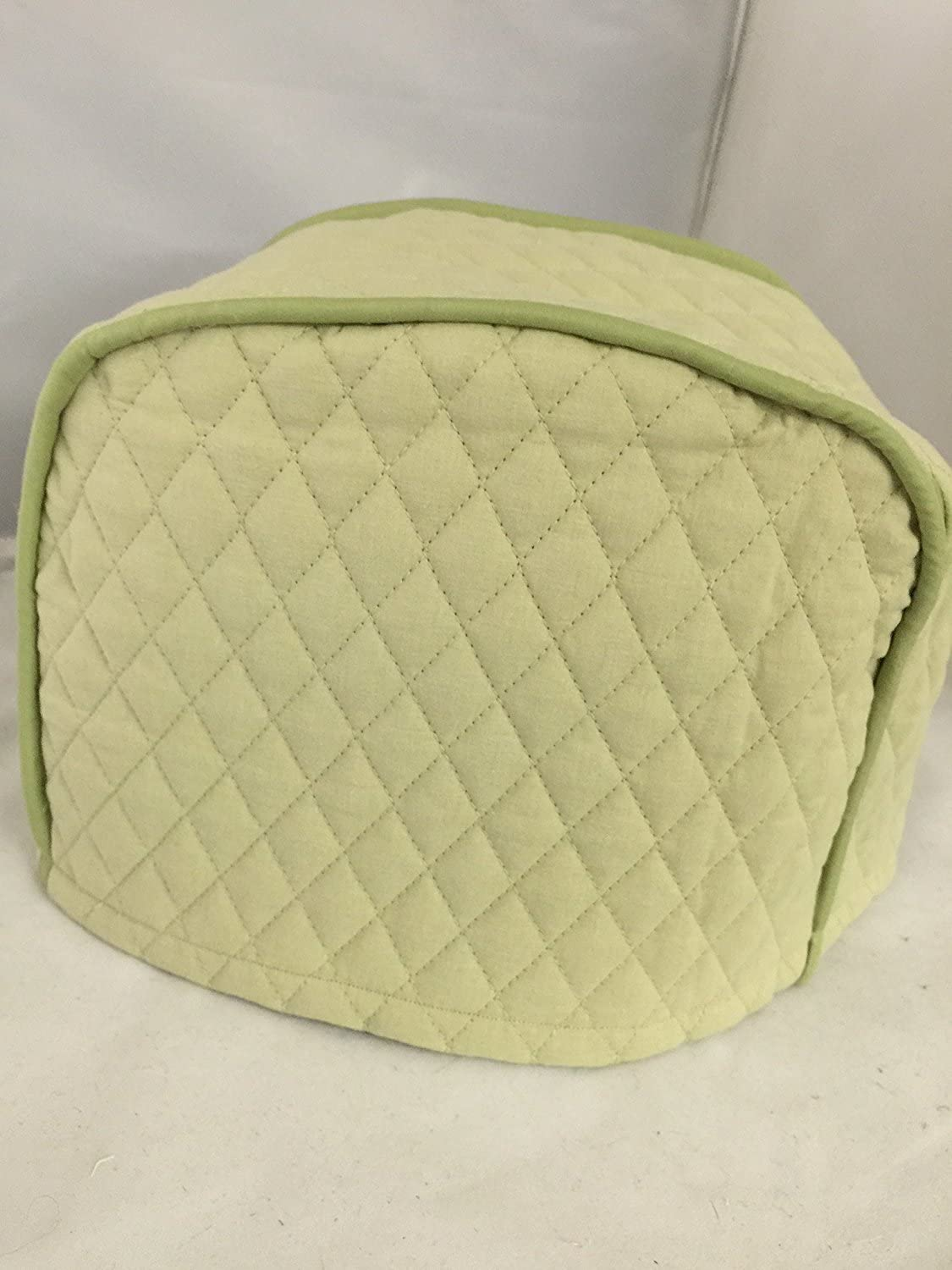 """2 Slice Toaster Cover (12""""x7.5""""x8"""") / Quilted Double Faced Cotton, Sage"""