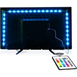 TV-LED-Backlight,Maylit Pre-Cut 6.56ft LED Strip Lights for 40-60in TV,4PCS USB Powered TV Lights kit with Remote,RGB…