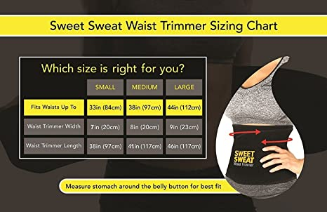 bdae499f8ef52 Buy Sweet Sweat Waist Trimmer® Hot Waist Shaper Belt Instant Slim Look Belt  for Women Online at Low Prices in India - Amazon.in