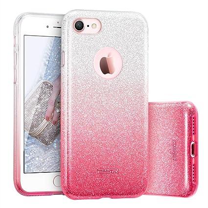 97c3b369047091 ESR Luxus Glitzer Bling Hülle kompatibel mit iPhone 7, iPhone 8 Hülle  [Glänzende Mode