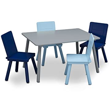 Amazon Com Delta Children Kids Chair Set And Table 4 Chairs