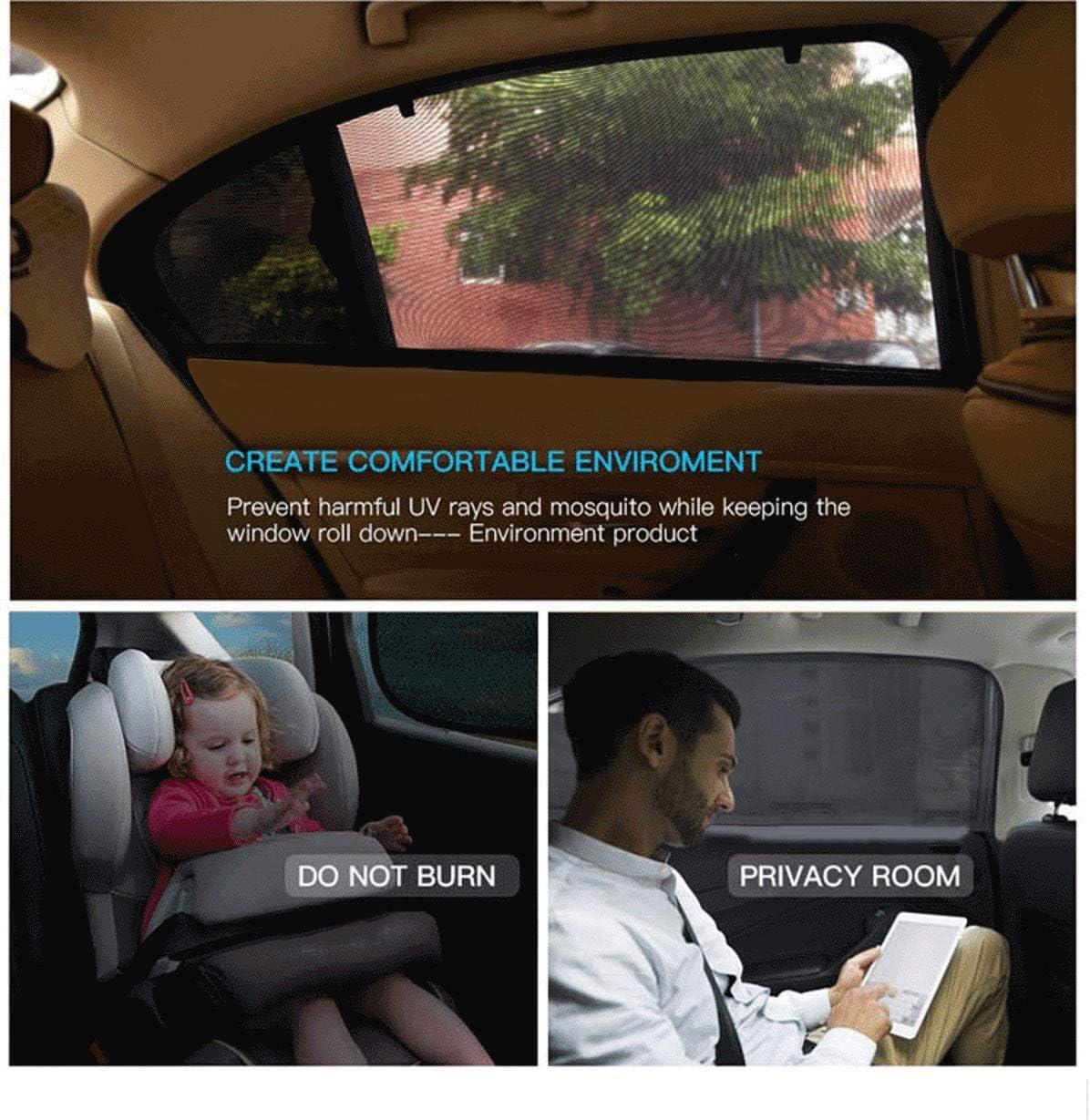 S f/ür die meisten PKW Seitenscheiben mit UV Schutz f/ür Kinder Sonnencreme Auto Vorhang Sommer ZHONG AN Universal Sonnenschutz Auto Baby 2 St/ück