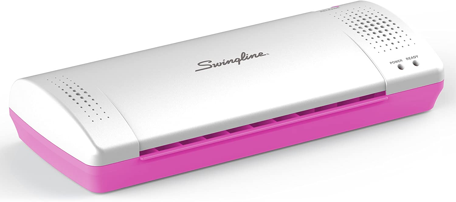 Swingline Laminator, Thermal, Inspire Plus Lamination Machine, 9 inches Max Width, Quick Warm-Up, Includes Laminating Pouches, White / Pink (1701865ECR) : Office Products