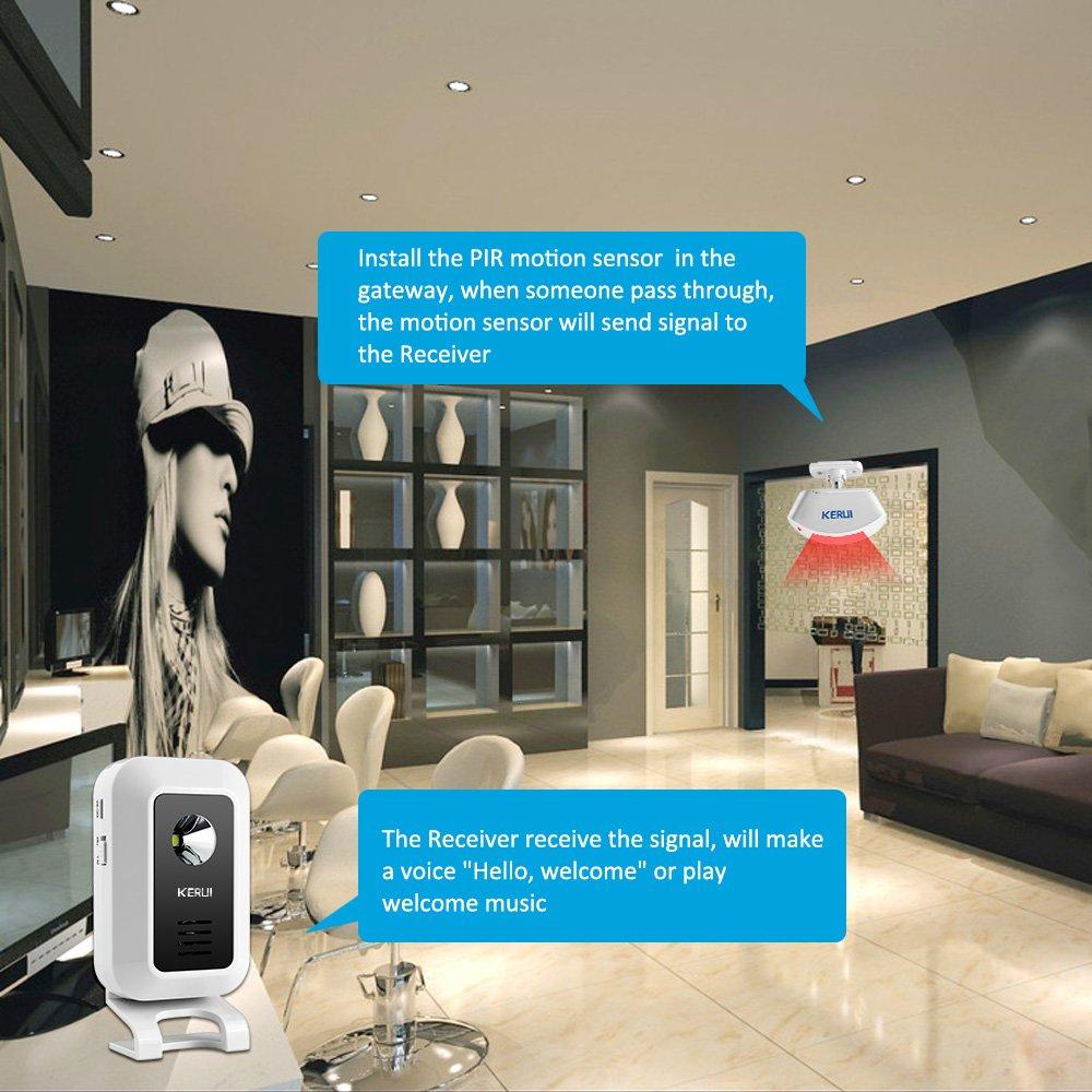 KERUI Wireless Split Welcome Motion Sensor Alert Alarm System