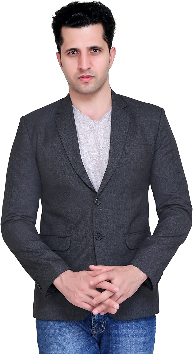 A.B.C. Garments Slim Fi Viscose Casual Blazer for Men