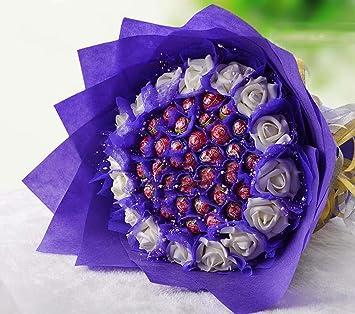 33 ramo Lollipop de ramo de flores artificiales de chocolate ...