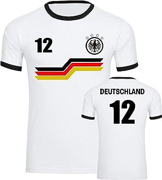 DEUTSCHLAND FANSHIRT Herren Langarmshirt S-XXL FANARTIKEL FUSSBALL WM 2018